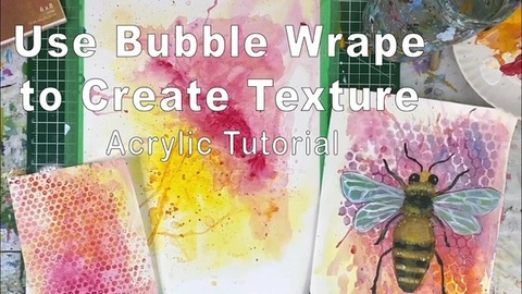 Use Bubble Wrap to Create Texture