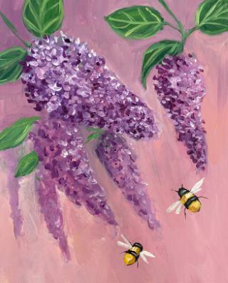 Bee-utiful Lialacs