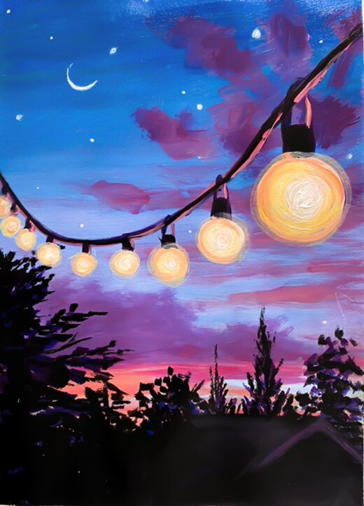Patio Lights at Night