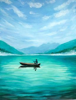 Misty Morning Canoe