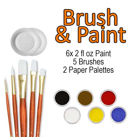 Brushes & Paint Kit<br/><small>Delivery approx. 7 business days</small>