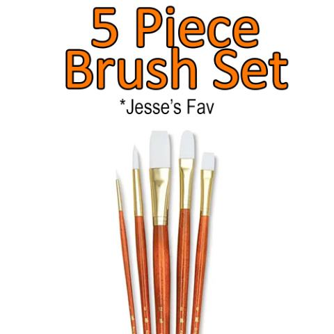 5 Piece Brush Set<br/><small>Delivery within 3 business days</small>