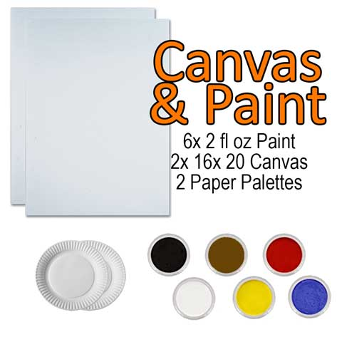 Canvas & Paint Kit<br/><small>Delivery approx. 7 business days</small>